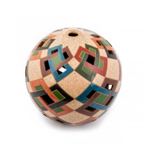 Round Geometric Vase from Nicaragua