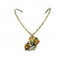 Brass and Citrine Necklace From Brazil