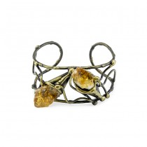 Brass and Citrine Cuff From Brazil